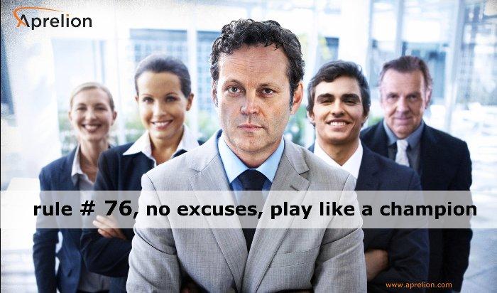 Aprelion - rule # 76, no excuses